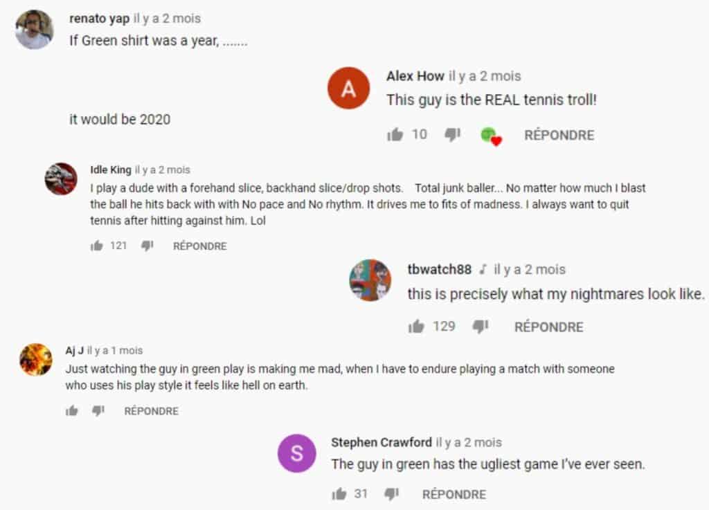 Compilation de commentaires YouTube