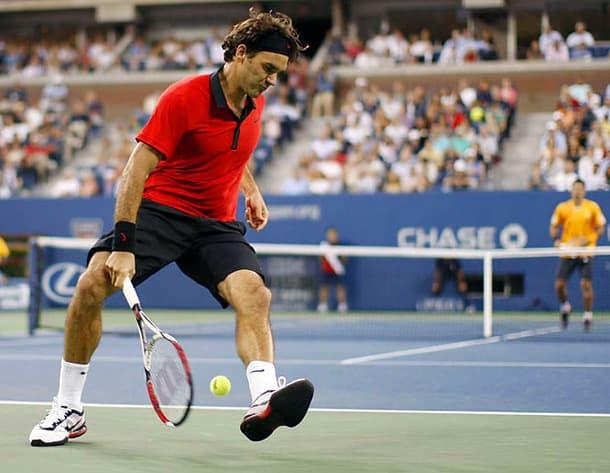 Rodger Federer fait un tweener